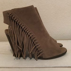 Rampage Fringed Booties
